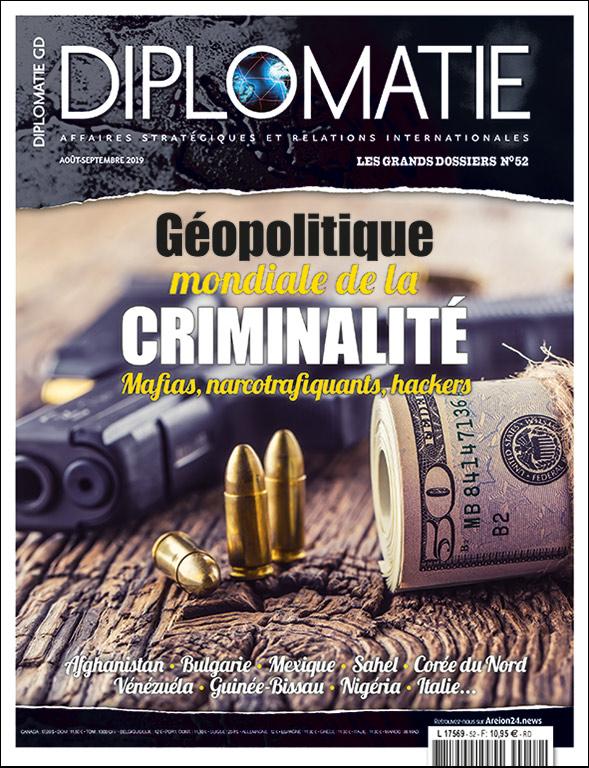 Le n°52 des Grands Dossiers de la Diplomatie est consacré à la géopolitique de la criminalité. J'ai l'honneur et le plaisir d'y traiter la cybercriminalité sur le darkweb.