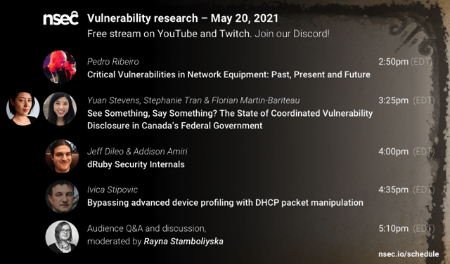 Join me at the Vulnerability Management session at NorthSec 2021